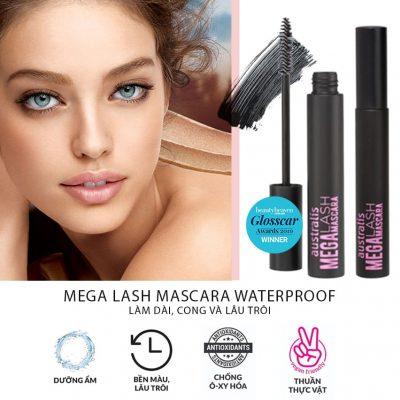 Mega Lash Black Mascara Làm Cong Duy Trì độ ẩm
